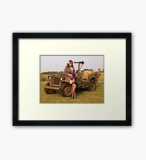 Christine with a 1944 Willys MB Framed Print