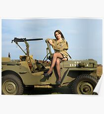 Ashley on a '44 Willys MB Poster