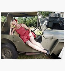 Brittany in a 1941 Willys MB Poster
