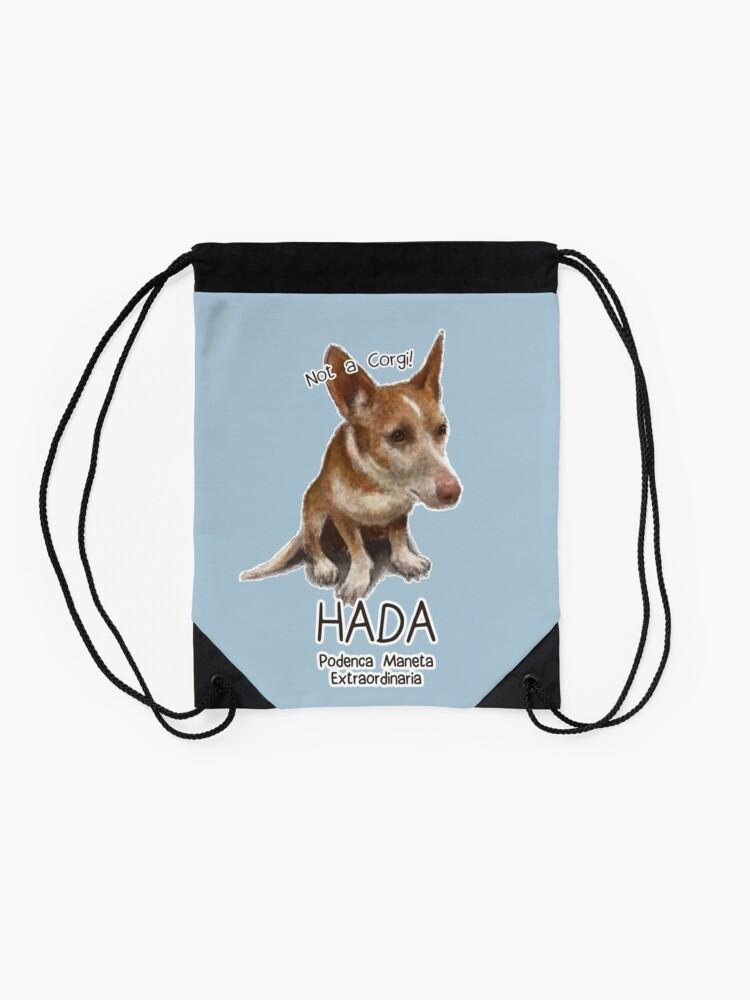 Alternate view of Hada the Podenca Maneta Drawstring Bag
