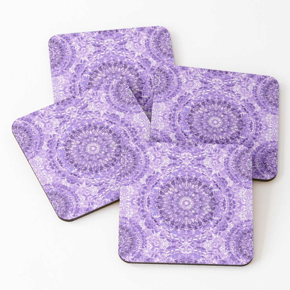 Lilac Lace Mandala Coasters (Set of 4)