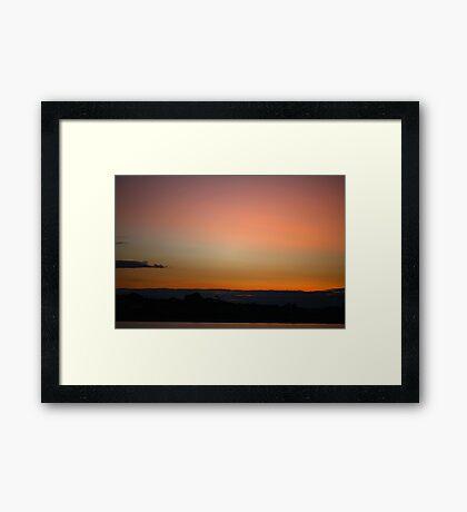 Rainbow Coloured Sunset Framed Print