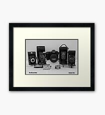 CAMERAS OLD AND NEW Framed Print