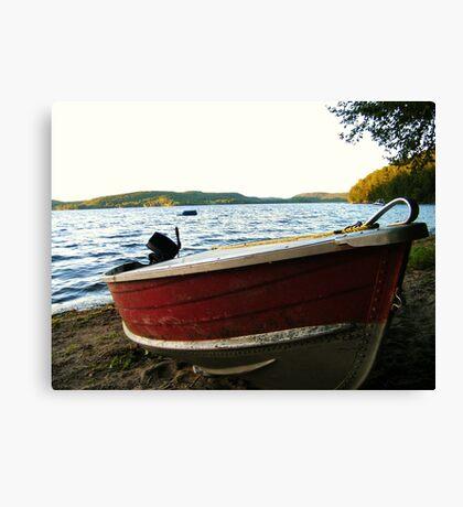 Boat at Lac La Blanche, Quebec Canvas Print