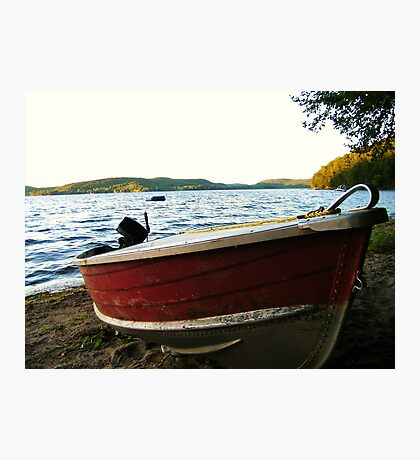 Boat at Lac La Blanche, Quebec Photographic Print