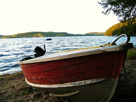 Boat at Lac La Blanche, Quebec by Graham Beatty