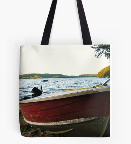 Boat at Lac La Blanche, Quebec Tote Bag