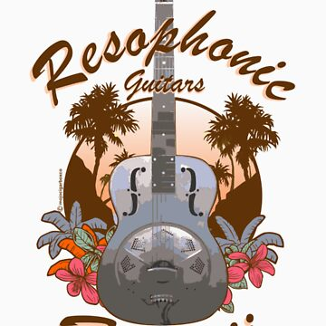 Resophonic Guitar - Hawaii (brown)  by DocMiguel