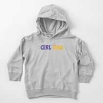 Girl Dad Toddler Pullover Hoodie