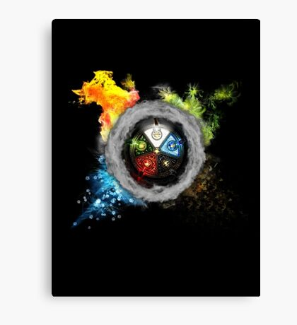 Elemental  Battle Canvas Print