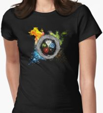 Elemental  Battle Womens Fitted T-Shirt
