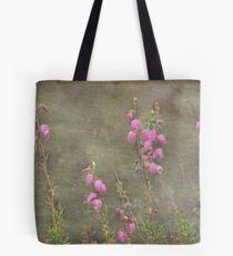 A melody of soft pink Irish Heath Tote Bag