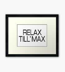 Vacation Holiday Relax Framed Print