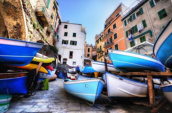 Boats of Riomaggiore by Luke Griffin