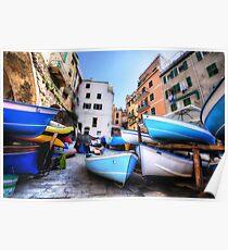 Boats of Riomaggiore Poster