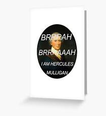 Hercules Mulligan Hamilton Musical Greeting Card