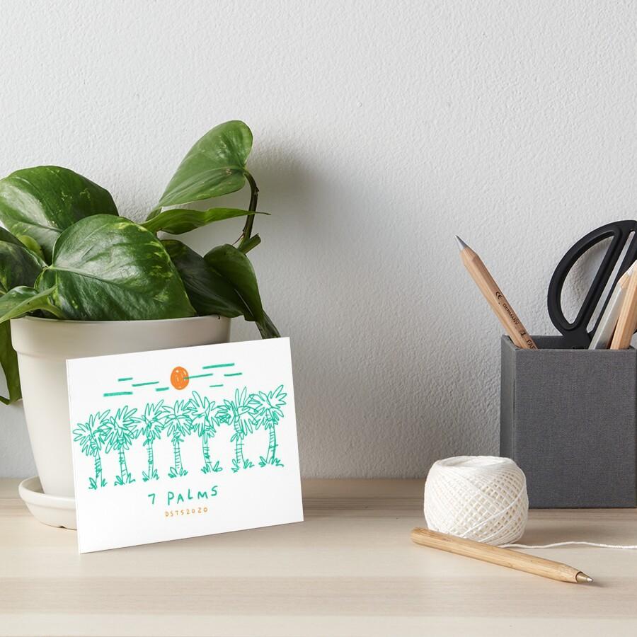 7 Palms (2020 edition) Art Board Print