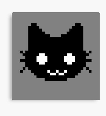 8-bit kitten Canvas Print