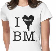 I Heart Black Milk Womens Fitted T-Shirt