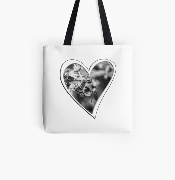 I Heart Bees All Over Print Tote Bag