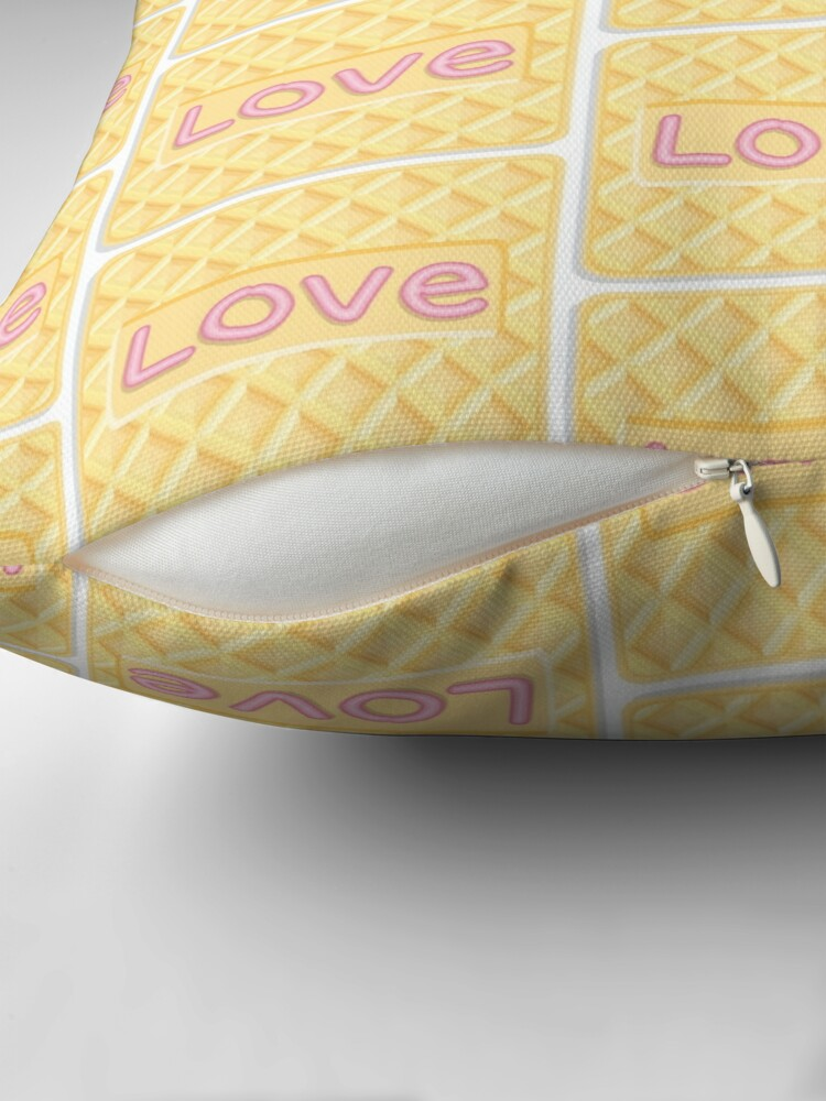 Alternate view of Wafer Cookie Love - Pattern Throw Pillow