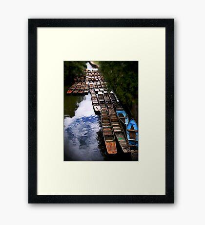 Punts at Magdalen Bridge, Oxford Framed Print