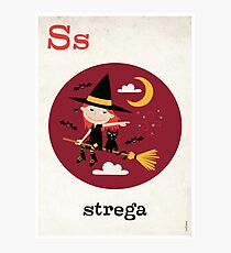 S is for Strega Photographic Print