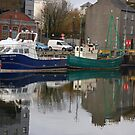 Boats Moored at Harbour, Galway. Ireland. by JoeTravers