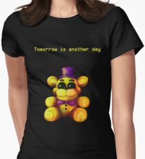 Five Nights at Freddy's - FNaF 4 - Tomorrow is Another Day Women's Fitted T-Shirt