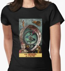 The Wheel of Fate: Circus Tarot by Duck Soup Productions Womens Fitted T-Shirt