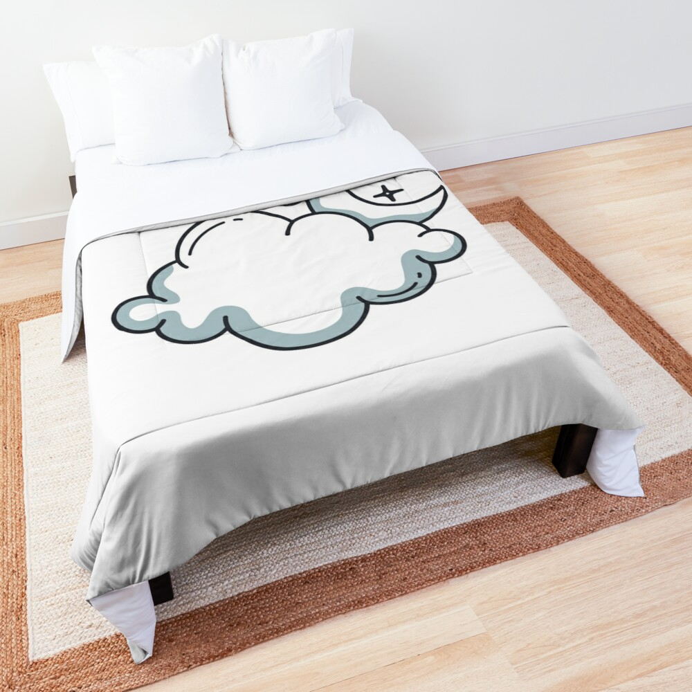 Clouds and moon Comforter