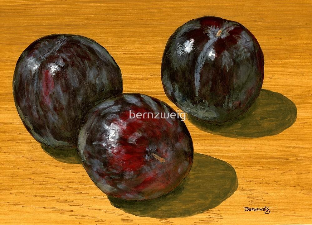 basking black plums by bernzweig