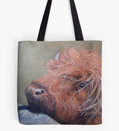 ickle hairy cow Tote Bag