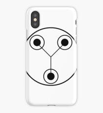 Simple Flux Capacitor Schematic iPhone Case