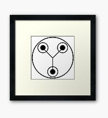 Simple Flux Capacitor Schematic Framed Print