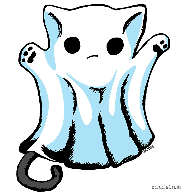 Cute Boo Ghost Cat Halloween