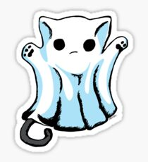 Cute Boo Ghost Cat Halloween Sticker