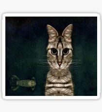 Jules Verne's Cat Sticker