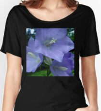 Blue Campanula Macro Women's Relaxed Fit T-Shirt