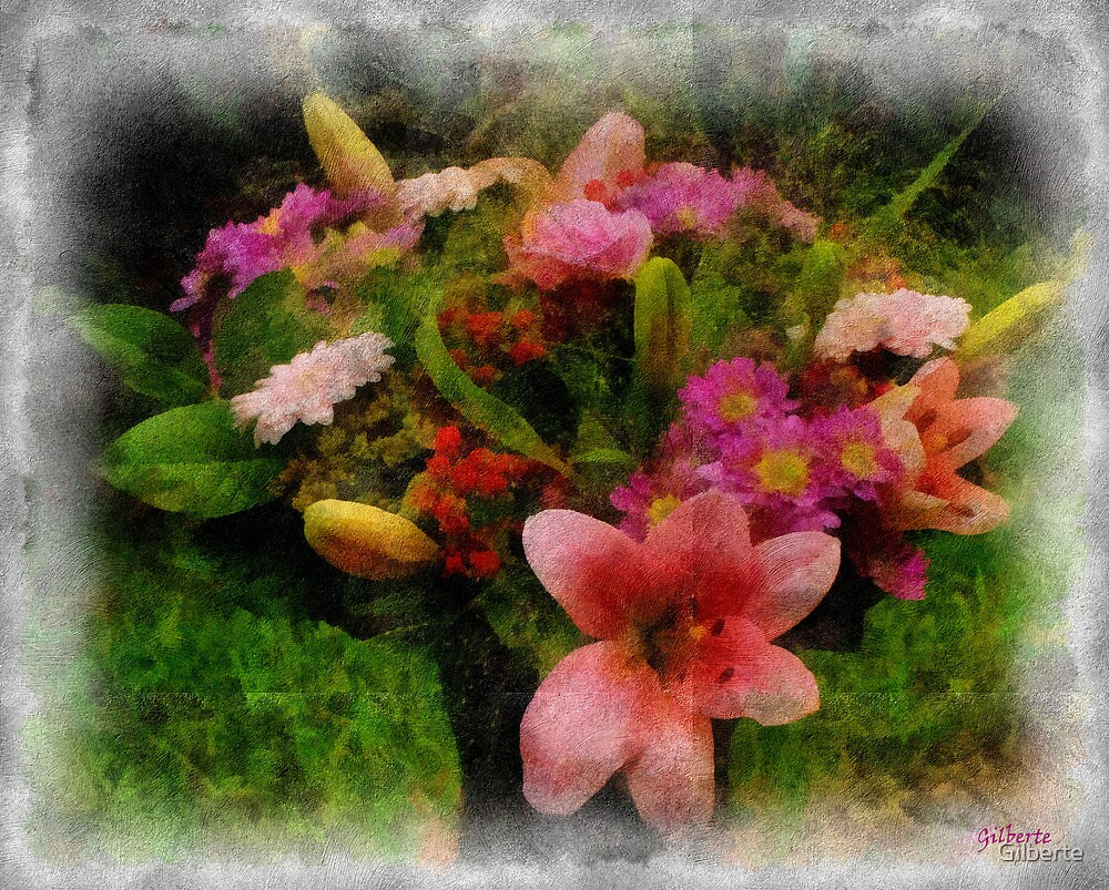 August flowers by Gilberte
