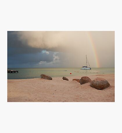 Morning Squall Palm Beach Aruba  Photographic Print