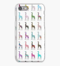 Whimsical pink floral chevron giraffe pattern iPhone Case/Skin