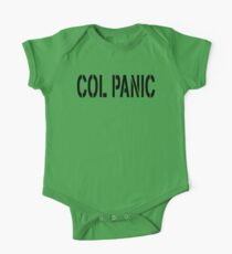 COL PANIC - Punny Black on White Design for Unix/Linux Geeks One Piece - Short Sleeve