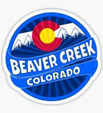 Beaver Creek Colorado flag mountain burst Sticker