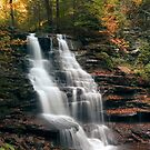 A Touch of Autumn at Erie Falls by Gene Walls