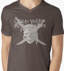 Yo Ho, Yo Ho A Pirate's Life for Me Men's V-Neck T-Shirt