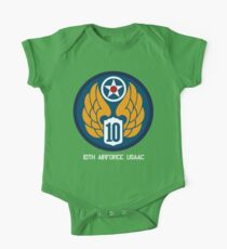 10th Air Force Emblem  One Piece - Short Sleeve