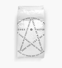 Carry On Anti Possession Symbol - Supernatural Duvet Cover