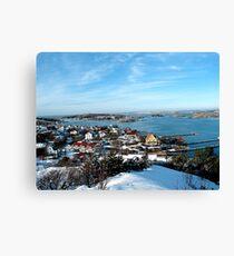 Swedish Island - Snowy View Canvas Print