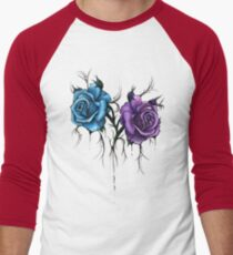 Decaying Tattoo Roses Men's Baseball ¾ T-Shirt